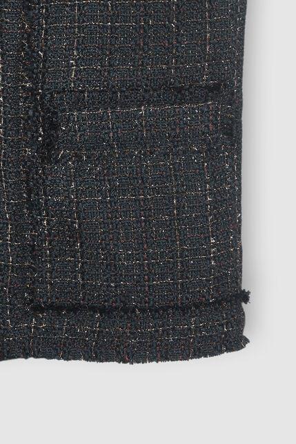 Veste en tweed sans manche  - Vanille