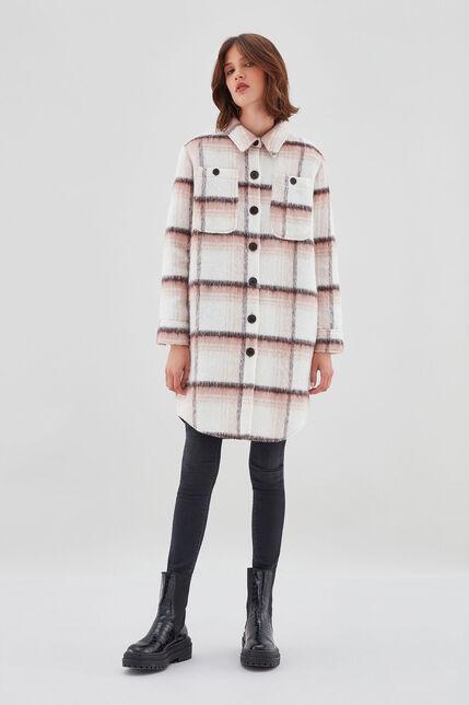 M-CASEY Manteau-Chemise en laine