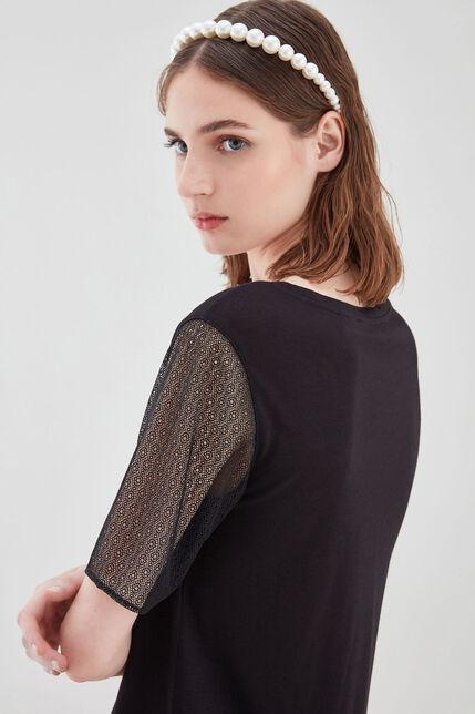 TIKAL Tee-shirt en coton, NOIR, large