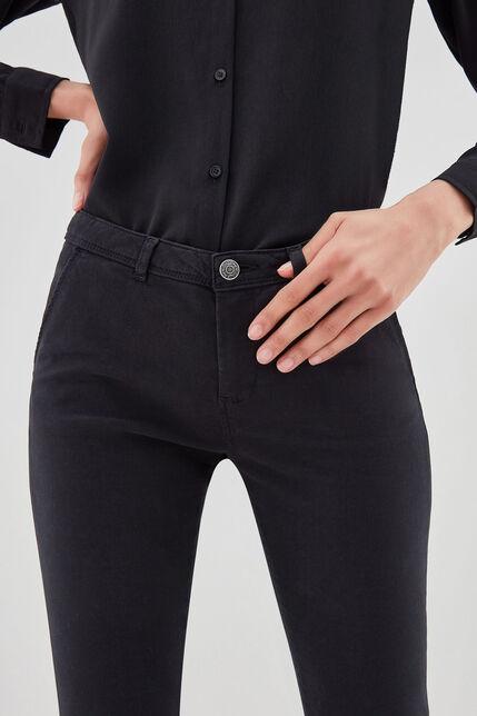 CLOEE Chino en coton stretch, NOIR, large