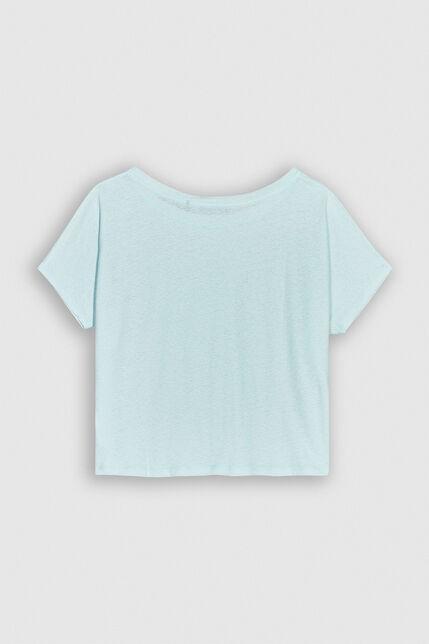 TINOA Tee-shirt oversize  en lin et coton