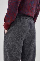 PACHA TWEED Pantalon large effet tweed, BLACK TWEED, large