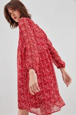 RYOMA  Robe large froncée à la taille, LIBERTY RED, large