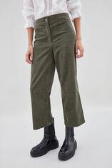 PACHA VELVET Pantalon en velours côtelé, EVERGREEN, large