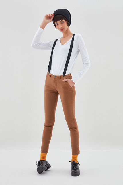 CLOEE Chino en coton stretch