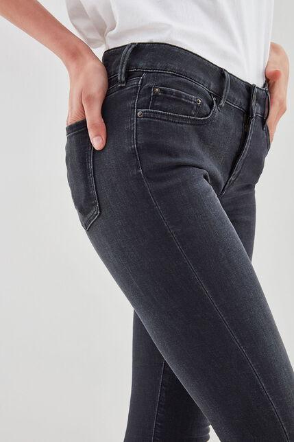 ALYSON MID RISE Jean skinny, OLD BLACK, large
