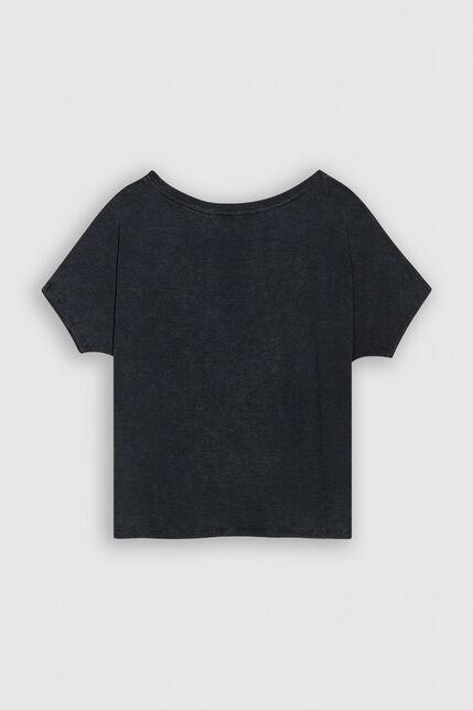 TINOA SLUB Tee-shirt oversize  en jersey lin et coton