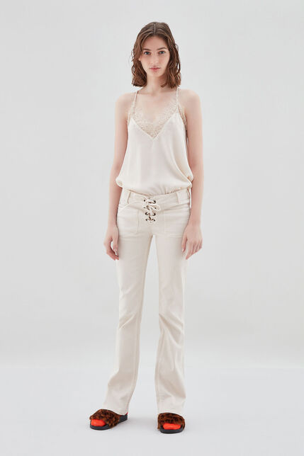 PERLA LACE Jean bootcut, WINTER WHITE, large