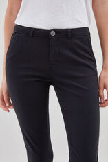 CLOEE Chino en coton stretch, NOIR, large