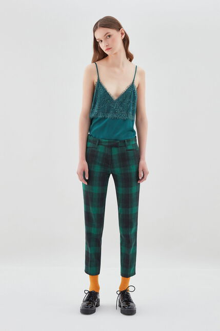 PACKERTON GREEN Pantalon coupe entravée