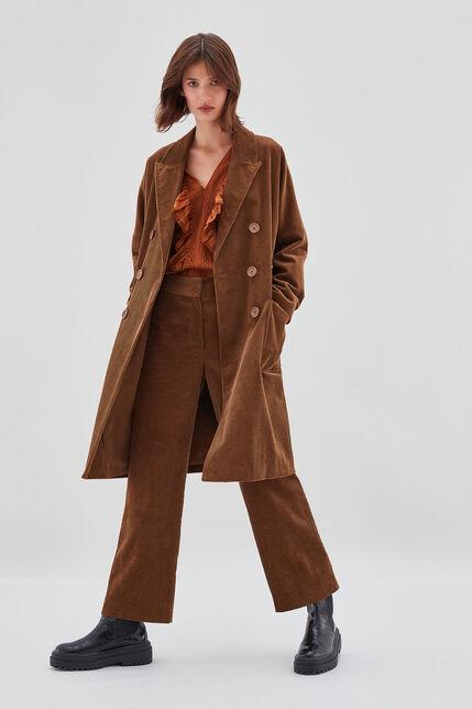 MORENA VELVET Manteau en velours côtelé