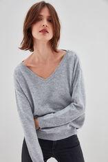 P-DEBORAH Pull en laine et cashmere, MIDDLE GREY, large