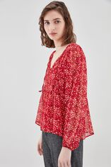 T-RYOMA Blouse ample à manches bouffantes, LIBERTY RED, large