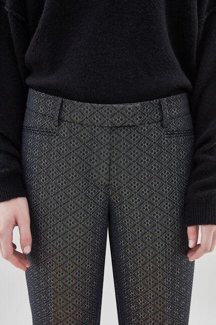 PACKERTON GLITTER Pantalon glitter coupe entravée, DIAMOND SAPHIR, large