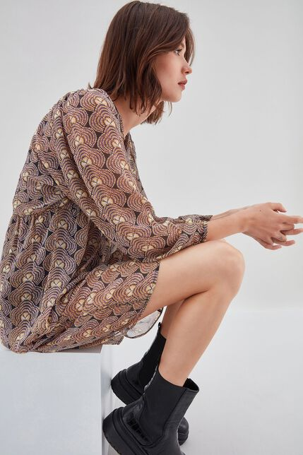 RYOMA  Robe large froncée à la taille