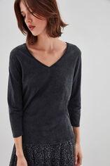 TAMARA SLUB Tee-shirt en slub jersey coton, DARK GREY, large