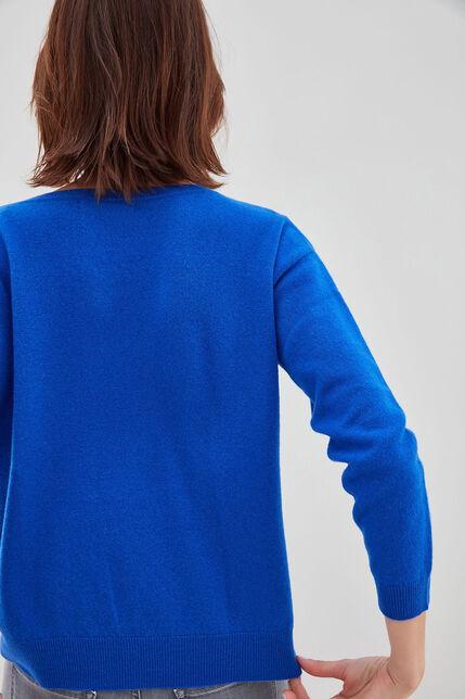 P-DEBORAH Pull en laine et cashmere, ELECTRIC BLUE, large