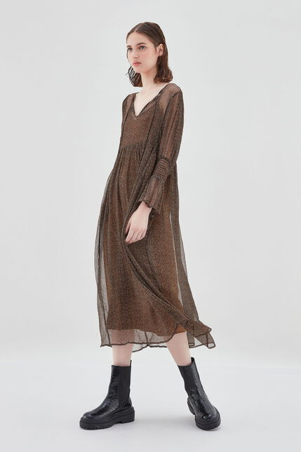 RHUMY Robe large bohème, FRECKLES BROWN, large