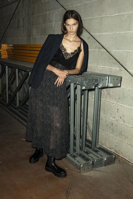 JYNA Jupe longue, BLACK LEOPARD, large