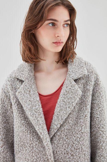 MADONNA Manteau en laine, GRIS CHINE, large