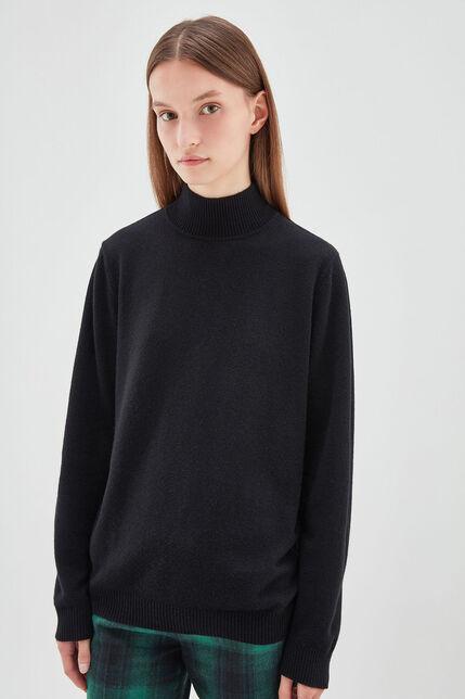 PUCCY Pull en laine et cashmere, NOIR, large