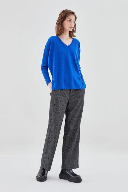 P-AMAYA Pull en laine et cashmere oversize, ELECTRIC BLUE, large