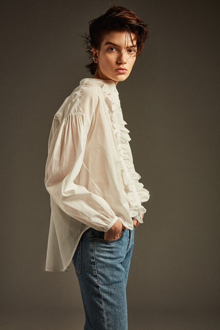 Jeans à larges revers  - Lola High Waist