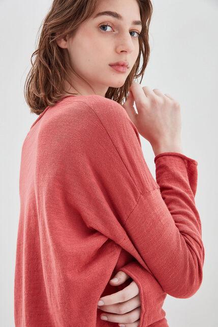 PIANA Pull en coton, VIEUX ROSE, large