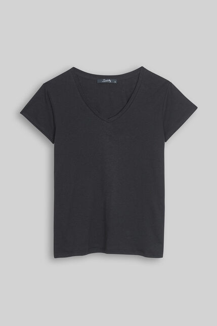Tee-shirt en jersey lin et coton  - Tessa