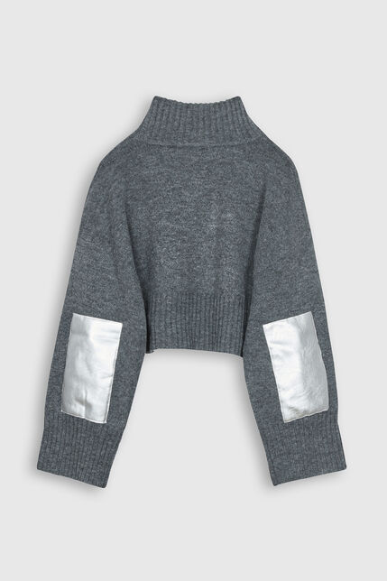 Pull crop col montant  - Phlore