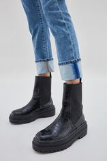LOLA HIGH WAIST Jean à larges revers straight ankle, VINTAGE/INDIGO, large