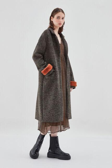 MADONNA TAUPE Manteau en laine