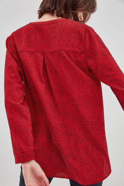 CARMELLE Chemise à manches longues, RED DOTS, large