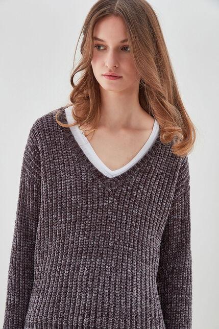 P-LOUKIA Pull tricoté chenille