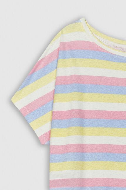 TINOA PRINT Tee-shirt oversize en lin et coton