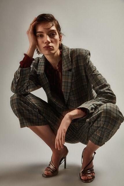 Pantalon large à carreaux  - Pacha Checks