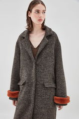 MADONNA TAUPE Manteau, HEATHER TAUPE, large