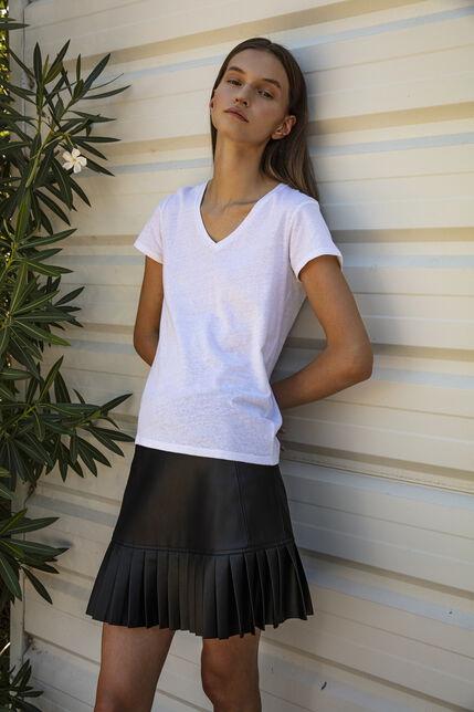 TESSA MC Tee-shirt en jersey lin et coton