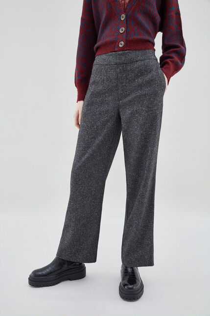 PACHA TWEED Pantalon large effet tweed