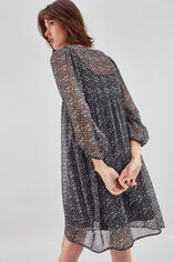 RYOMA  Robe large froncée à la taille, CAMO BROWN, large
