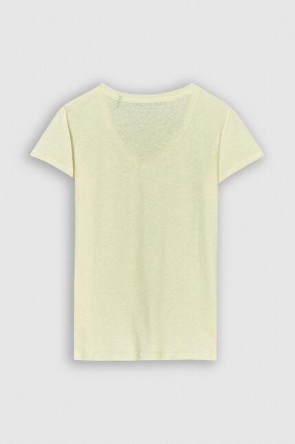 TESSA Tee-shirt en jersey lin et coton