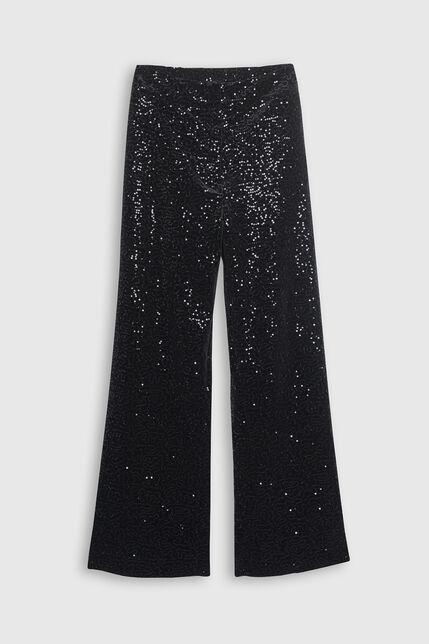 Pantalon large scintillant - Pacha Black Glitter