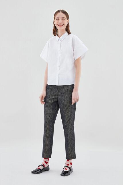 PACKERTON GLITTER Pantalon glitter coupe entravée