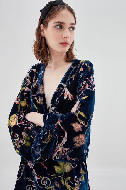 R-IDAHO Robe en velours ajouré